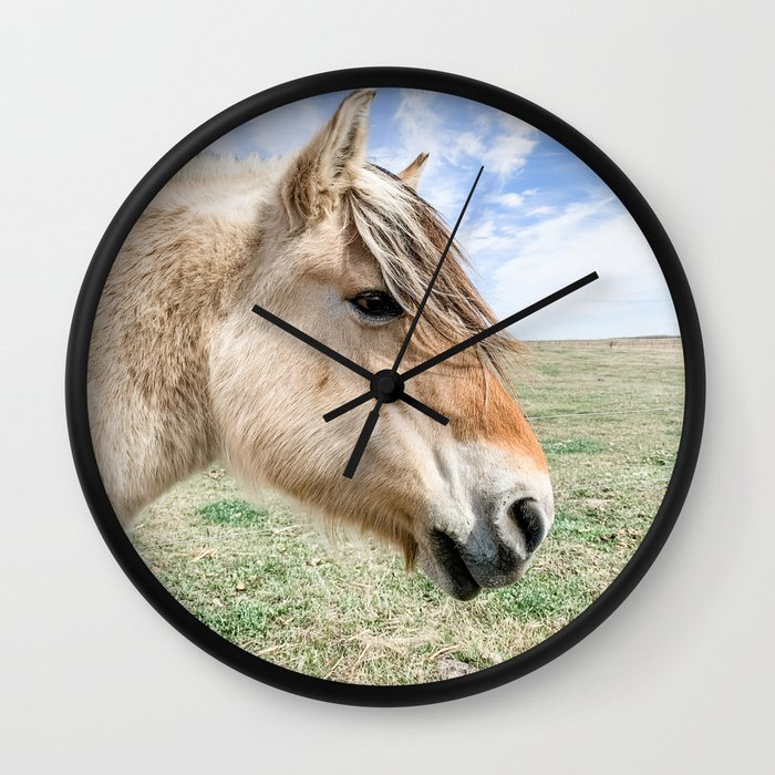 Beauty of the Fjord Wall Clock